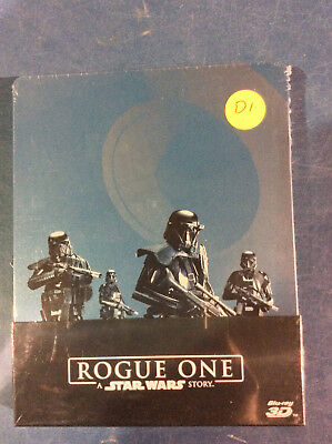 Star Wars: Rogue One - Limited Edition Steelbook [3D+Blu-ray] AS IS!!(d)