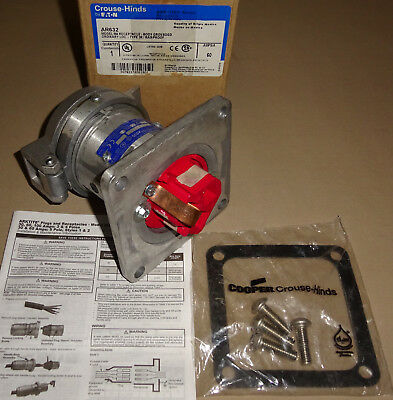 Crouse Hinds Pin&Sleeve AR632 Receptacle 60A 2W3P NEW