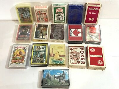 Large Job Lot Of Vintage Playing Cards W/ Some Modern - Bundle Of 16