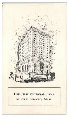 Early 1900s First National Bank of New Bedford, MA Postcard