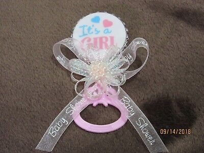 Baby Shower Guest Pin Corsage Boygirl Pinkblue 750 Picclick