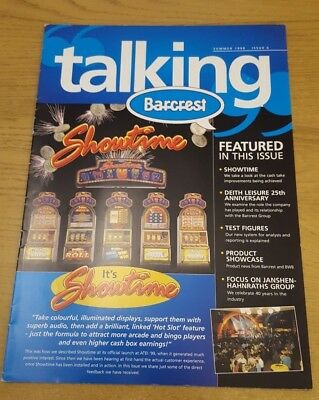 """""""Talking Barcrest"""" Fruit Machine Trade Pamphlet Summer 1999 Issue 6 Good Cond."""