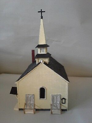 HO Scale Train Building - Wood - Fully Assembled, Painted and Detailed