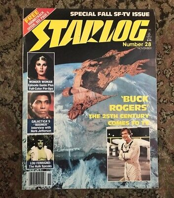 Starlog Magazine -No.28 - Nov 1979 - Buck Rogers - Wonder Woman - Galactica Hulk