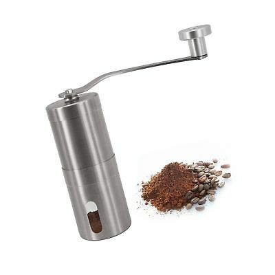 Manual Coffee Grinder, Conical Burr Mill, Brushed Stainless Steel, Small with