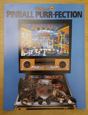 Williams Bad Cats Pinball Flyer Excellent Condition