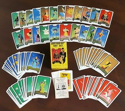 James Bond Tarot Card Deck Live and Let Die 1973 Solitaire Roger MooreComplete
