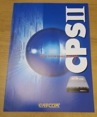 Capcom 4-Sided CPS2 Arcade Game Flyer Excellent Cond