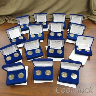 15 Pc Lot Presidential Dollar 2-Coin Sets in Original Boxes 30 Coins Total #Y215