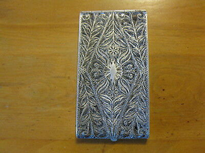 Price reduced! Antique Sterling silver filigree cigarette case 148-g