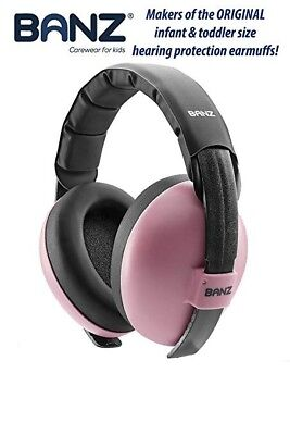 Baby Banz Earmuffs Infant Hearing Protection - Ages 0-2+ Years - (H170551) - EUC