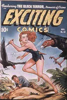 Exciting Comics #64 Photocopy Comic Book, Black Terror, Judy of The Jungle