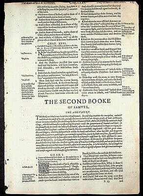 1582 Geneva Bible Leaf  ~You choose your own leaf~ Only 36 NT leaves available