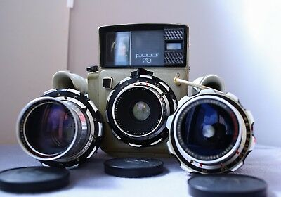 VERY RARE !!! Large-Format camera LINHOF Press 70 + Lens Synchro-Compur 3 pcs.