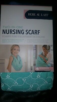 Bebe au lait 2 in 1 nursing  / breastfeeding  scarf / cover brand new.