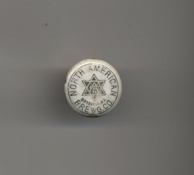 Pre-Pro Porcelain Beer Bottle Stopper - North American Brewing Co Brooklyn Ny