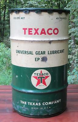 Vintage TEXACO Oil Gas 100 lb Can Gear Lubricant Gas Service Station Advertising