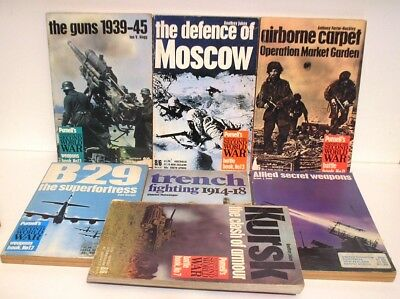 7 Purnell's History War Books Various Titles