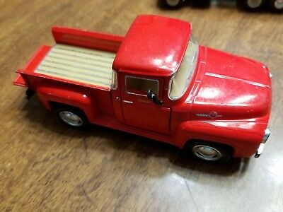 "5"" Kinsmart 1956 Ford F-100 Pickup Truck Diecast Model Toy Car 1:38 Red"