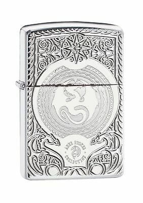 Zippo Anne Stokes Armor Windproof Lighter - High Polished Chrome .