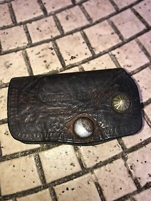 Vintage Chevrolet Dealership Leather Key Holder Case Bremen Ohio