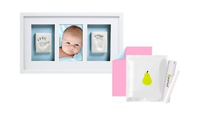 Pearhead Babyprints Newborn Baby Handprint and Footprint Deluxe Wall Keepsa... .
