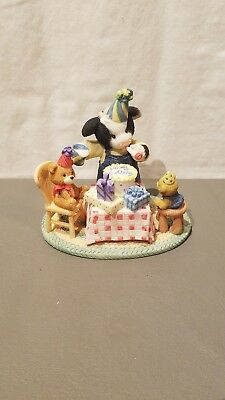 "2004 ENESCO Mary's Moo Moos "" Party Time With Moo "" W/BOX"