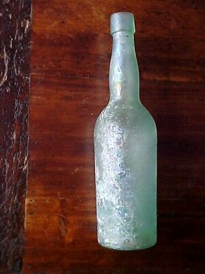 ANTIQUE STAR BRAND BEER BOTTLE HAND BLOWN AQUA LLB Co C&I APPLIED LIP 1865 1878