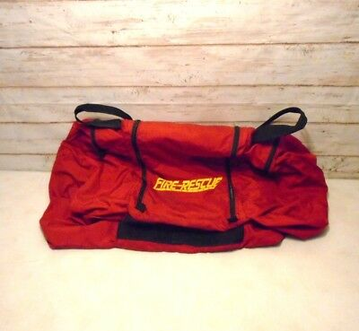 FIRE RESCUE BRIGADE 360 Zip Huge Firefigter Gear Bag EUC Fire Station Clothing 8