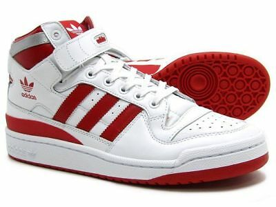 new styles 88d9f f0bb5 Mens Adidas Original Forum Mid Refined Retro WhiteRed Mens Shoes Sneakers  NEW