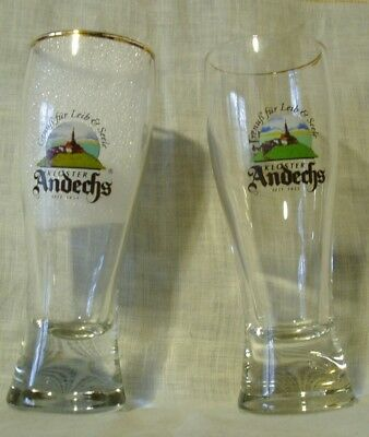 Pair of Kloster Andechs Glasses – 0.1 Liter, Monastery Brewery, made in Germany