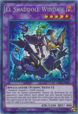 YuGiOh El Shaddoll Winda - SHVA-EN049 - Secret Rare - 1st Edition Near Mint