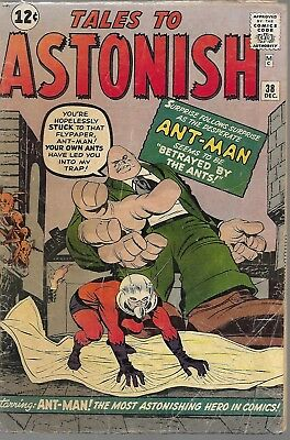 """MARVEL (1962)TALES TO ASTONISH#38""""Betrayed by the Ants!"""" -- 2.5 GD+"""