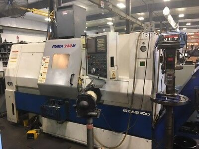 Used 2005 Daewoo Puma 240-MC Live Tool CNC Turning Center Lathe Doosan Tailstock