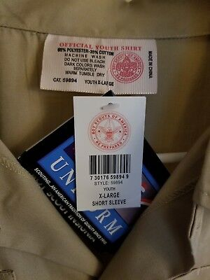 Official BSA Boy Scouts Youth XL Short Sleeve Shirt New w/ Tags REDUCED $!