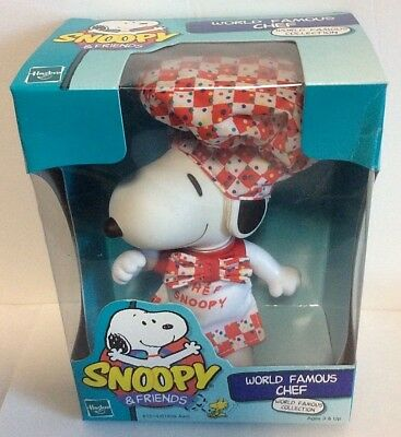 Vintage Hasbro SNOOPY & Friends WORLD FAMOUS CHEF Cook Figural Peanuts 1999 NOS