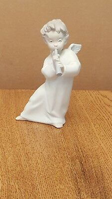 Lladro Angel with Horn #4540