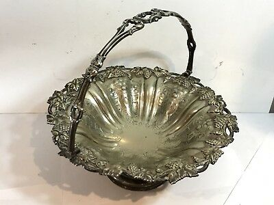 Vintage Sterling Silver Plated Bowl With Handle : Stunning Design Collectable