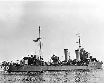 Royal Canadian Navy Destroyer Hmcs Ottawa H60 With Stats And History Sheet