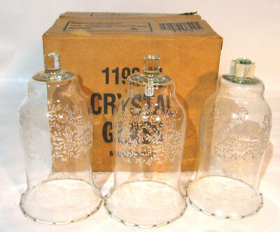 3 Homco Large Glass Votive Cups 1198-Bl