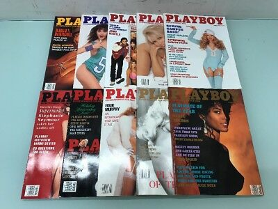 Lot Of 10 Playboy Magazines For Men From The 1990's #GG