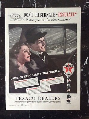 1939 vintage Original color print ad Texaco Dealers