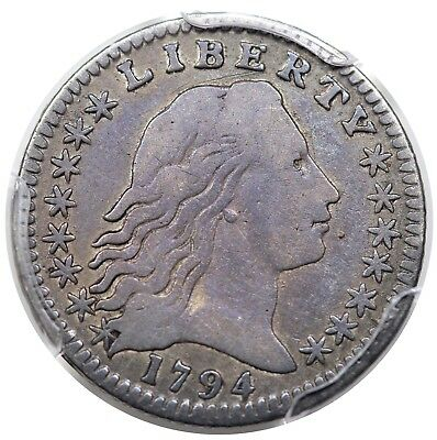1794 Flowing Hair Half Dime, LM-2, PCGS F12, nicely toned
