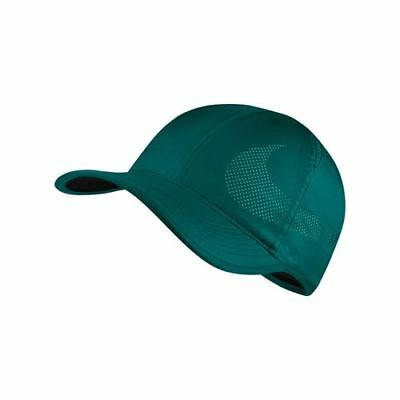 fb855ab7cab70 NIKE COURT AEROBILL Featherlight Unisex Tennis Hat Cap Green 840455 ...