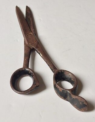 Very Rare Antique Barber Scissors/Shears R. Heinisch Newark, NJ -  Early 19c USA