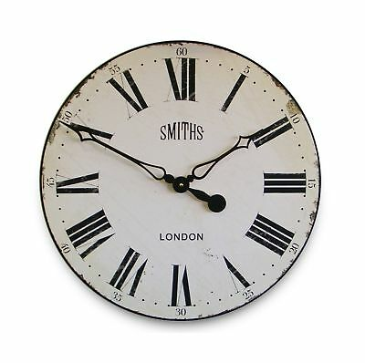 Smith's White Wall Clock - 50cm .