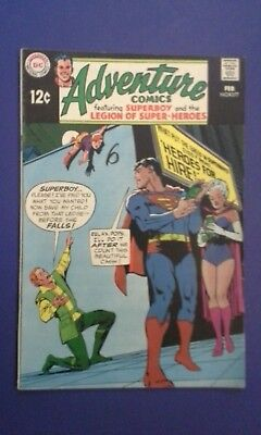 Adventure Comics #377 (Feb 1969, DC) Silver Age Superboy Superman
