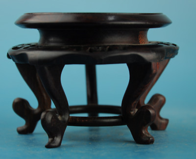 chinese antique suanzhi wood hand carving Stools Modelling wooden support c01