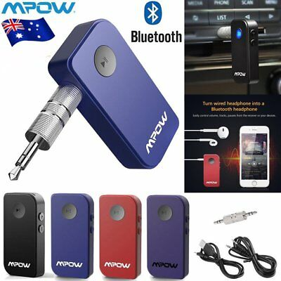 Mpow Wireless Bluetooth 4.0 AUX 3.5mm Audio Stereo Music Car Receiver Adapter AU