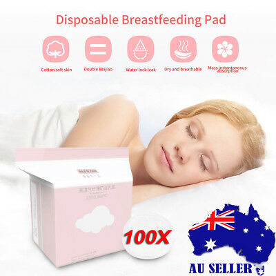 100x Portable Disposable Breast Nursing Pads maternity Pad Mommy Breast Feeding